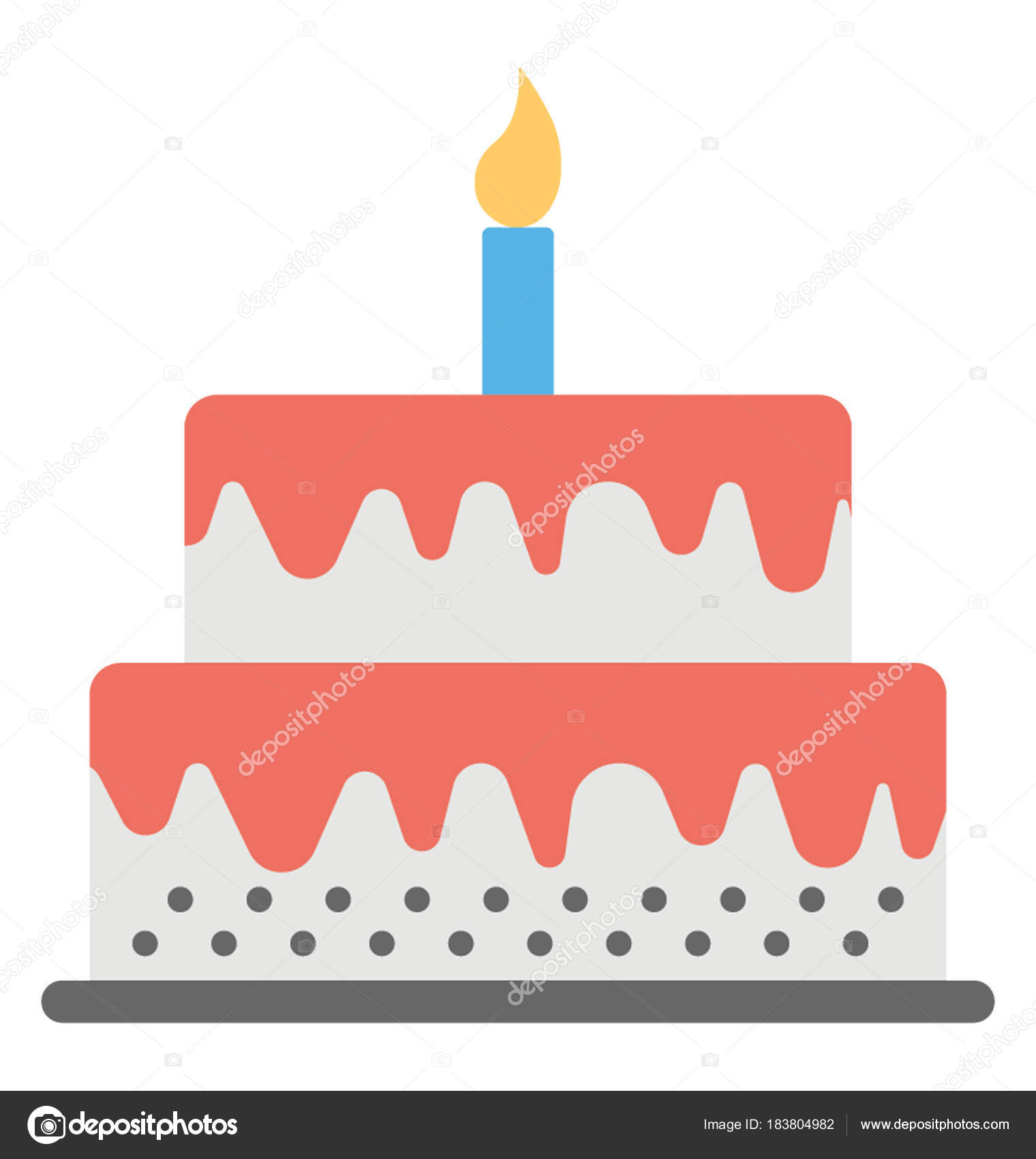 Strange Giant Birthday Cake Flat Icon Giant Birthday Cake Stock Vector Funny Birthday Cards Online Fluifree Goldxyz
