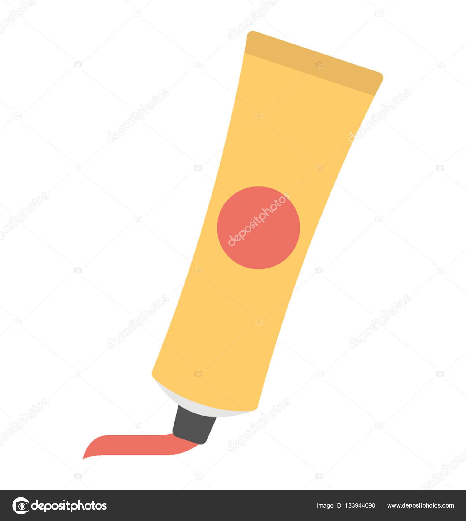 Einen Einfachen Vektor Icon Design Aus Einem Haar Farbe Rohr ...
