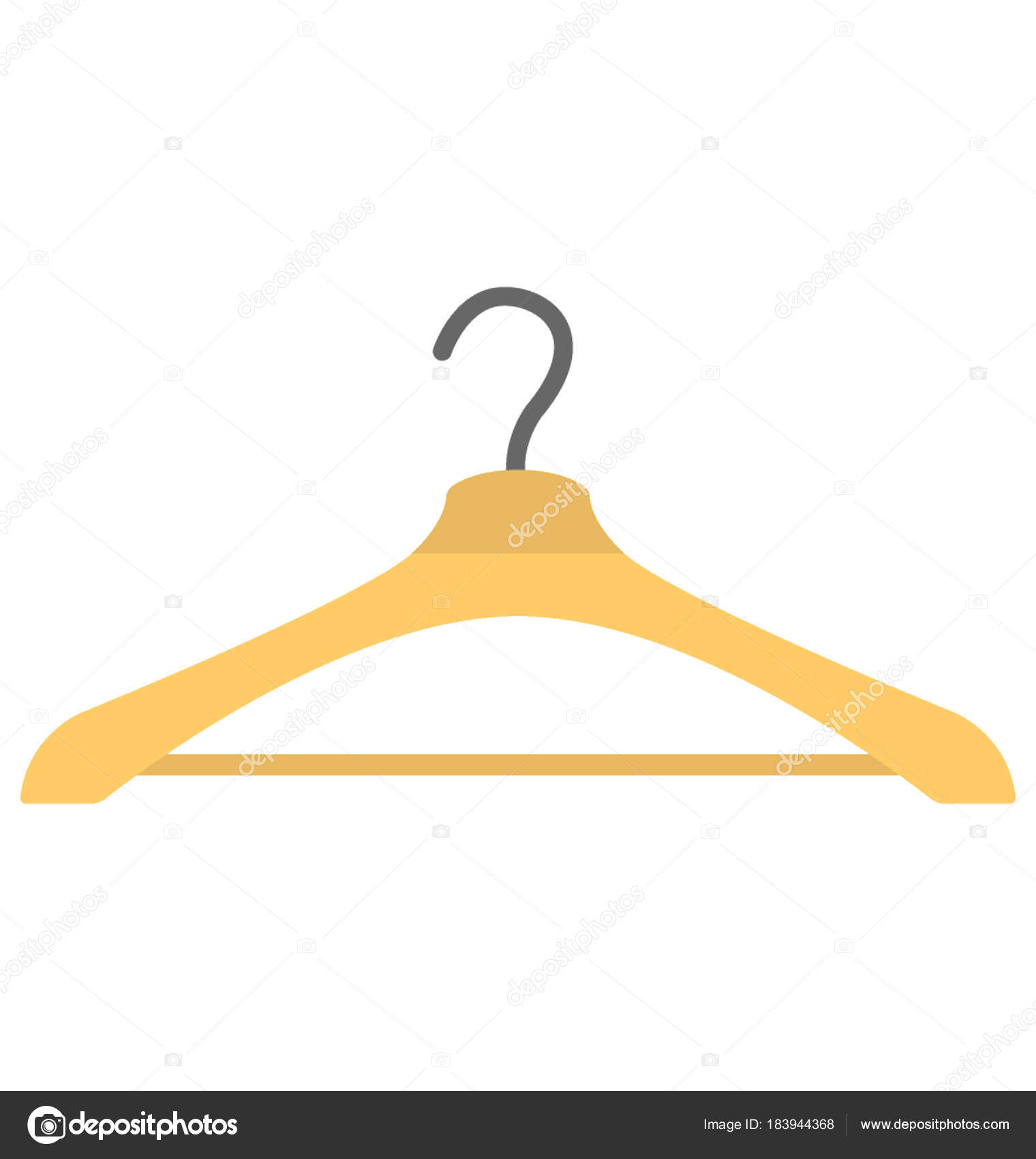 Eine Flache Ikone Der Aufhänger Zum Kleider Aufhängen Stockvektor