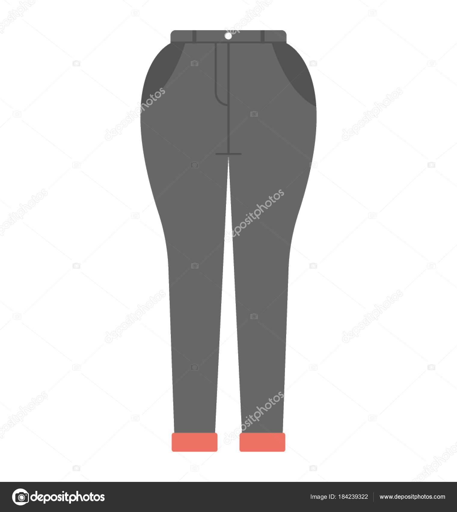 Jodhpurs Tight Fitting Trousers Women Stock Vector