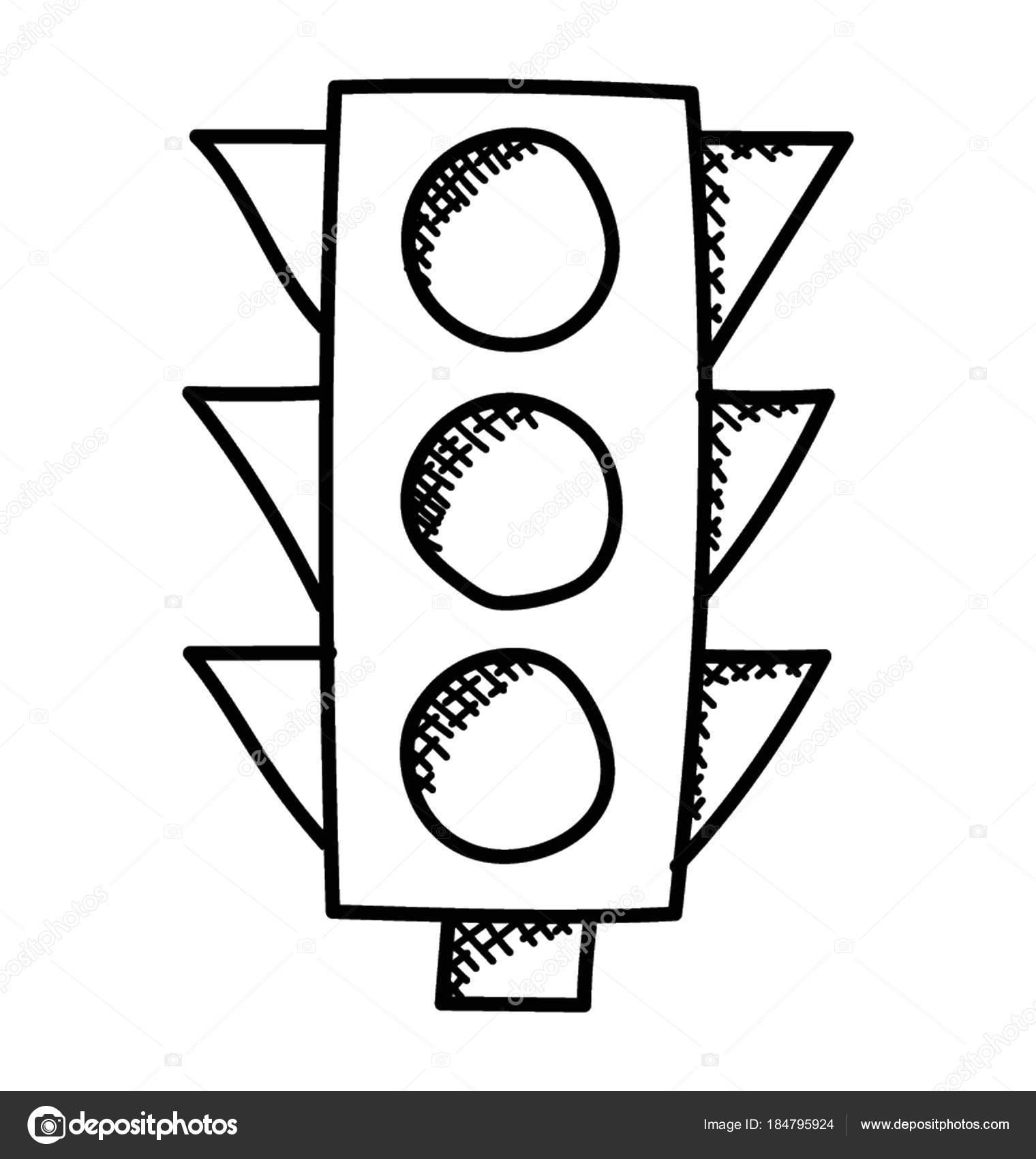 Imágenes: semaforos para colorear | Semáforos Señales Carretera