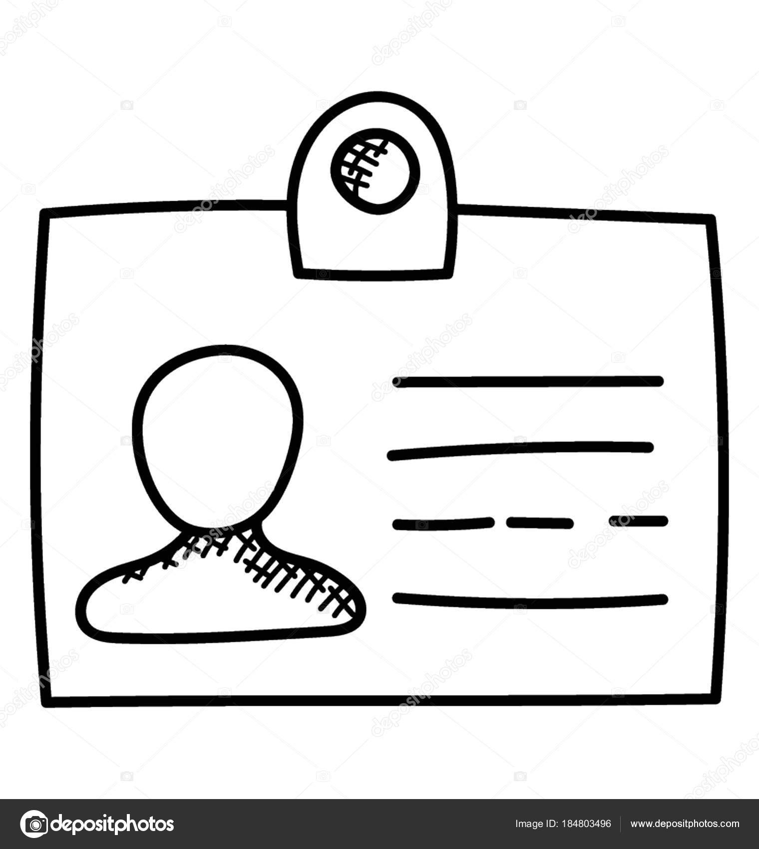 Show Identity Card Doodle — Stock Vector © creativestall #184803496