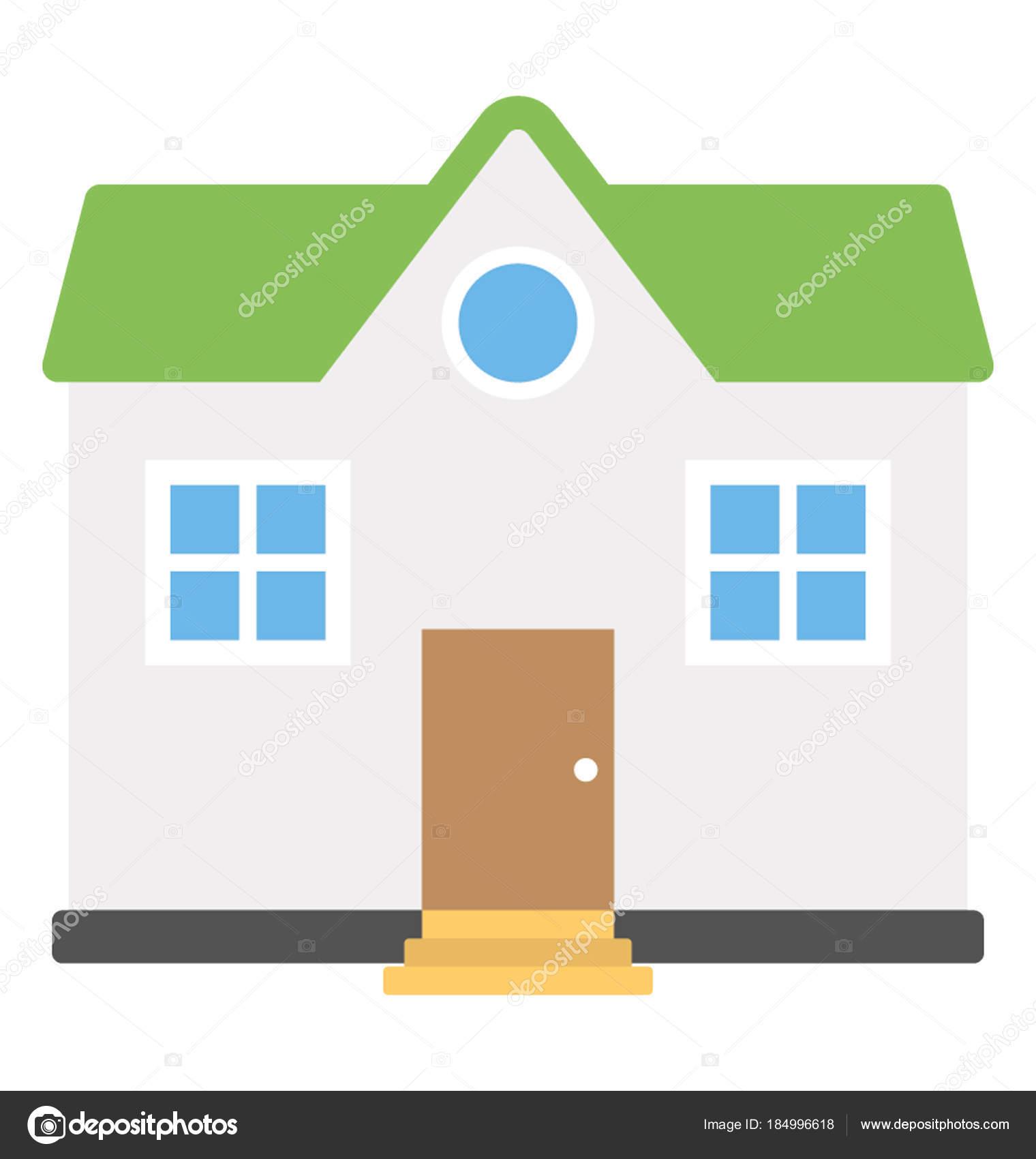 Une Maison Habitation Luxe Une Maison Plain Pied U2014 Image Vectorielle