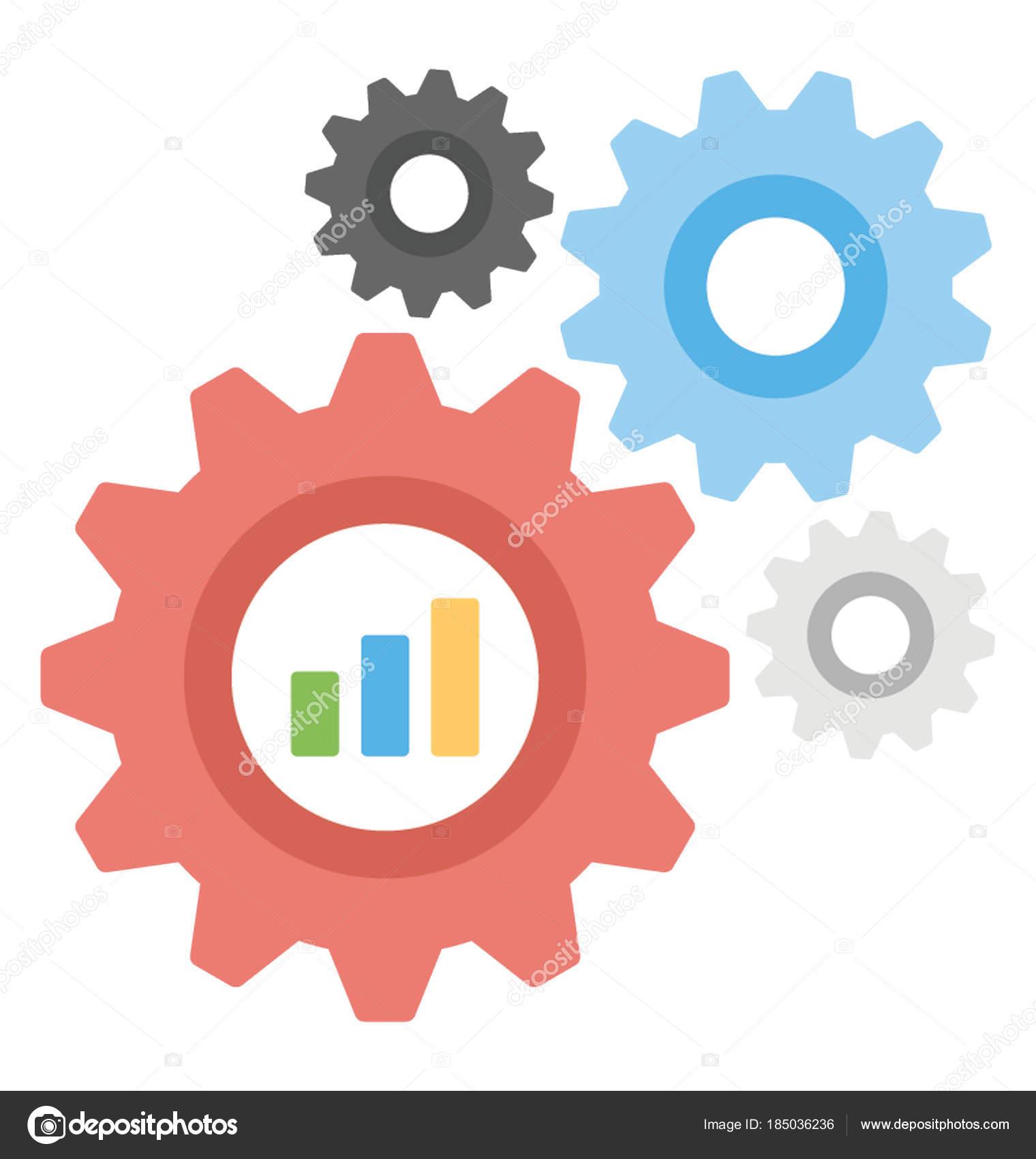 Progress Graph Development Chart — Stock Vector