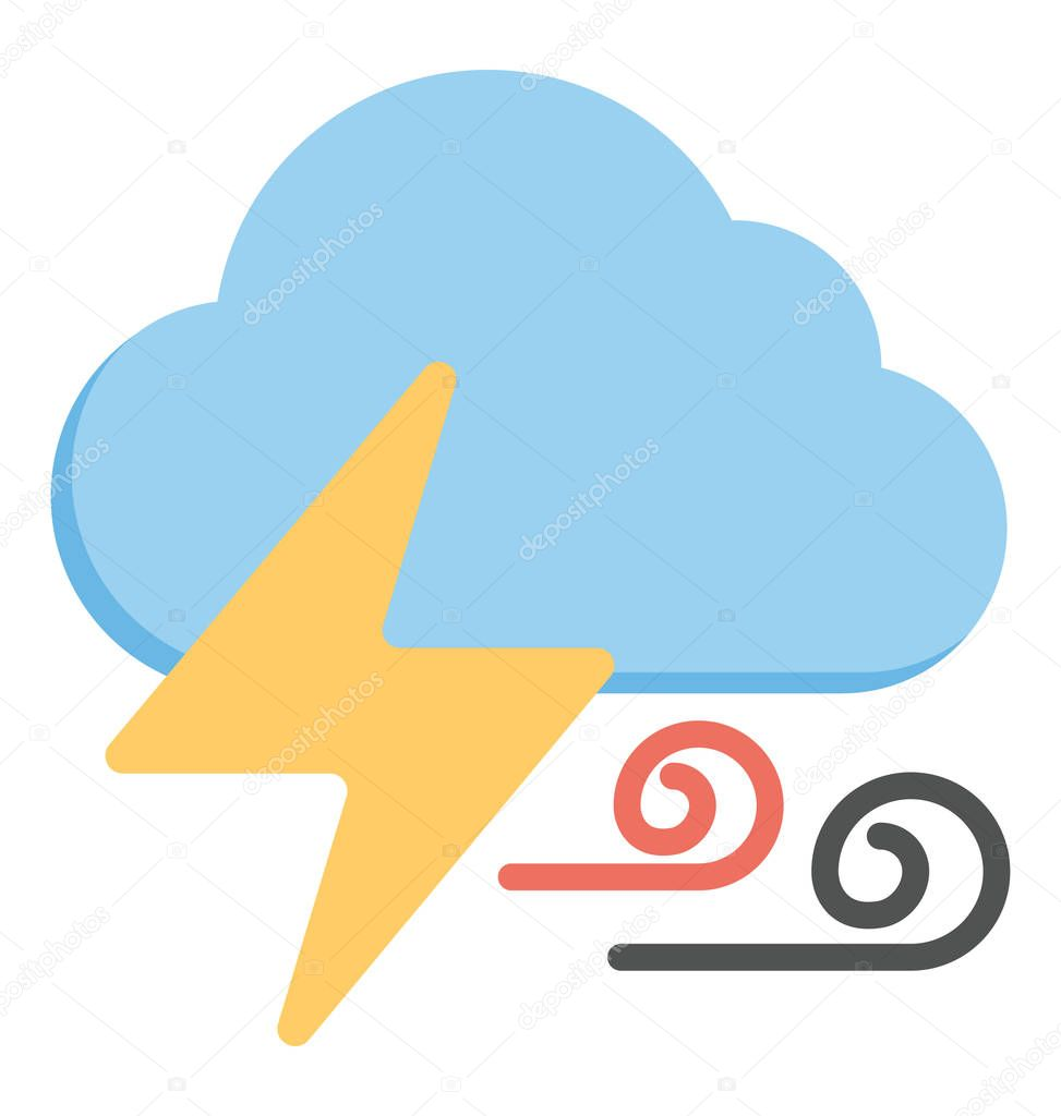 A stormy and thunderstorm weather condition