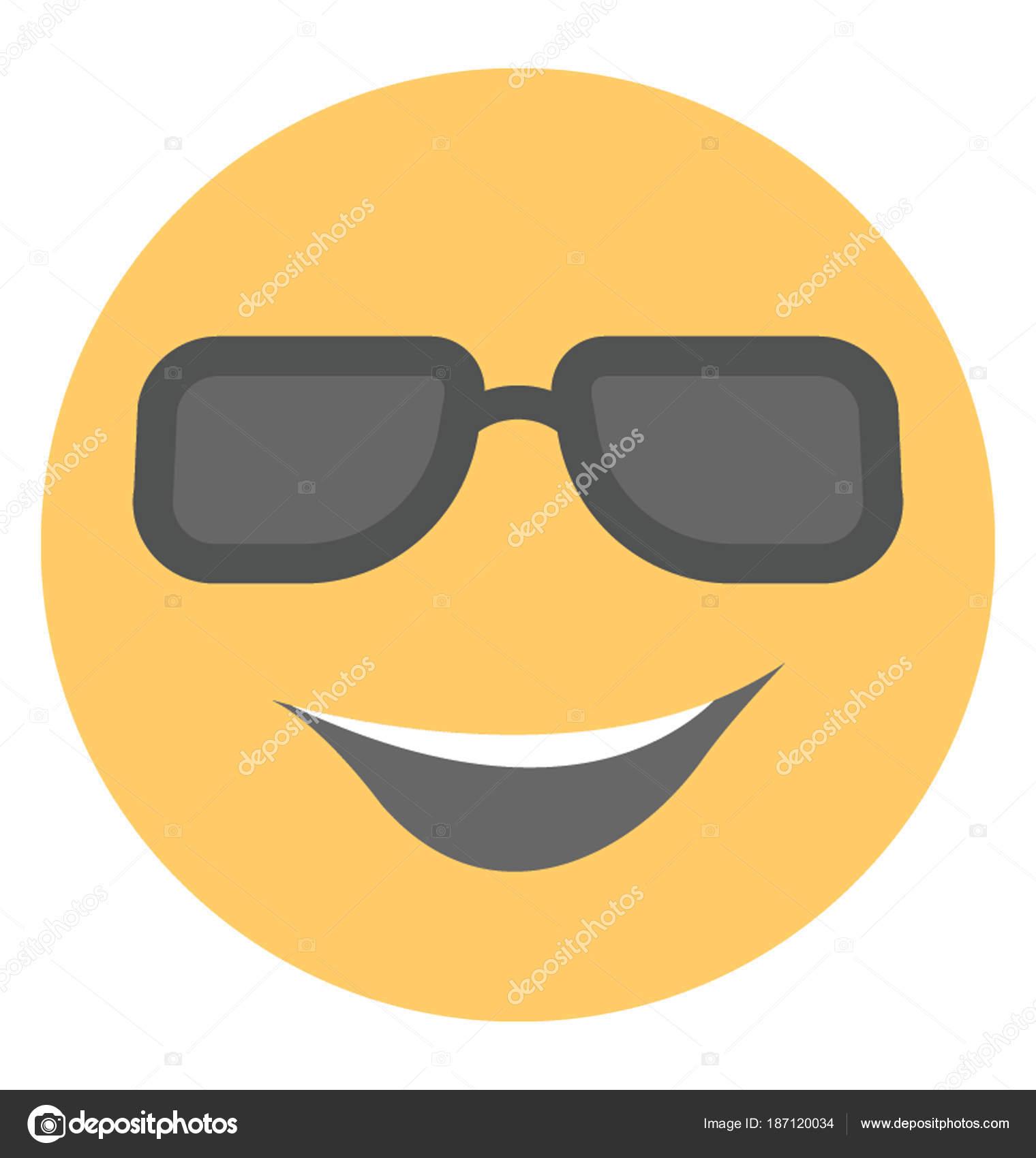 Carita Fresca Feliz Emoji — Archivo Imágenes Vectoriales
