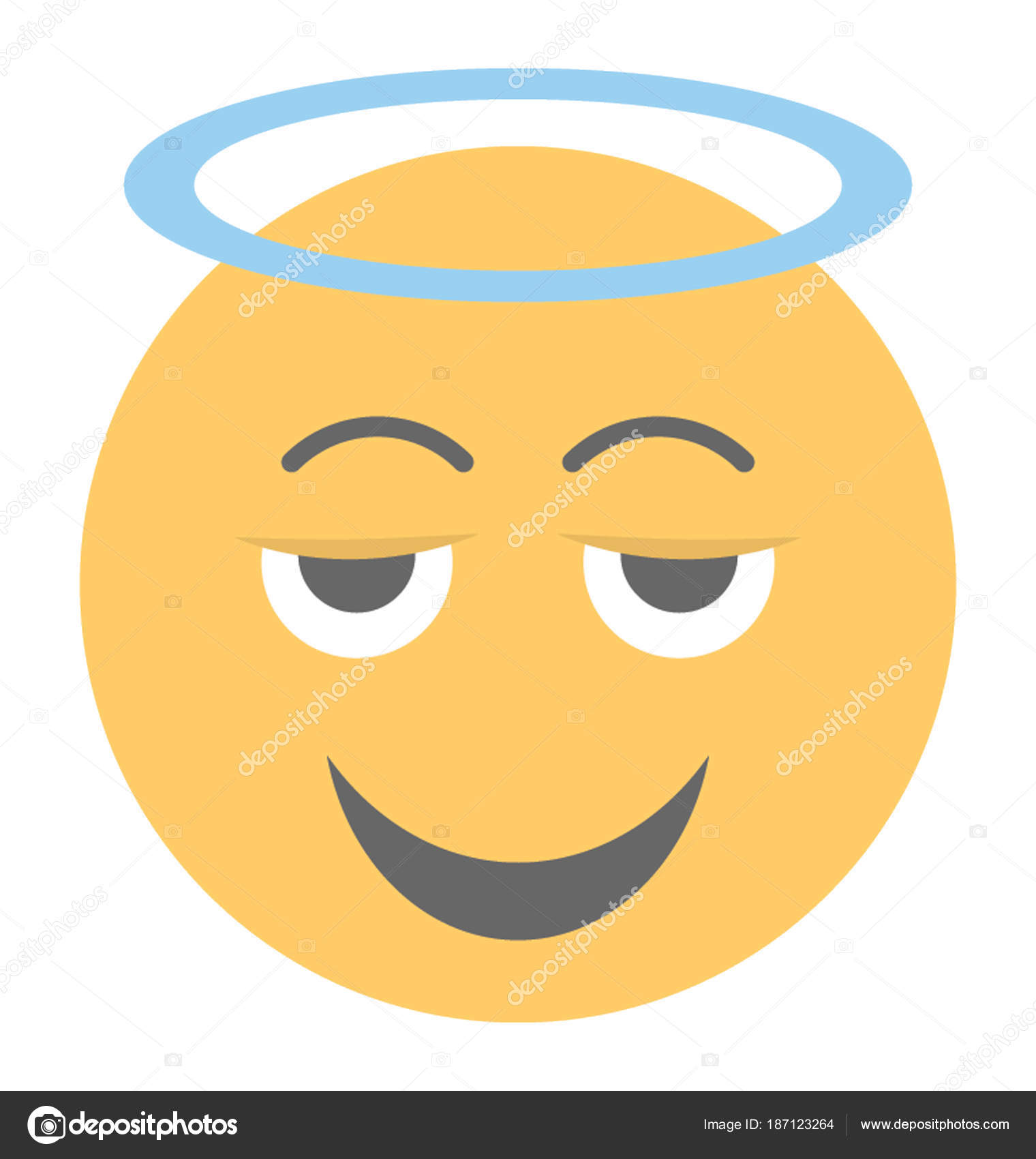 Smiley angel emoji