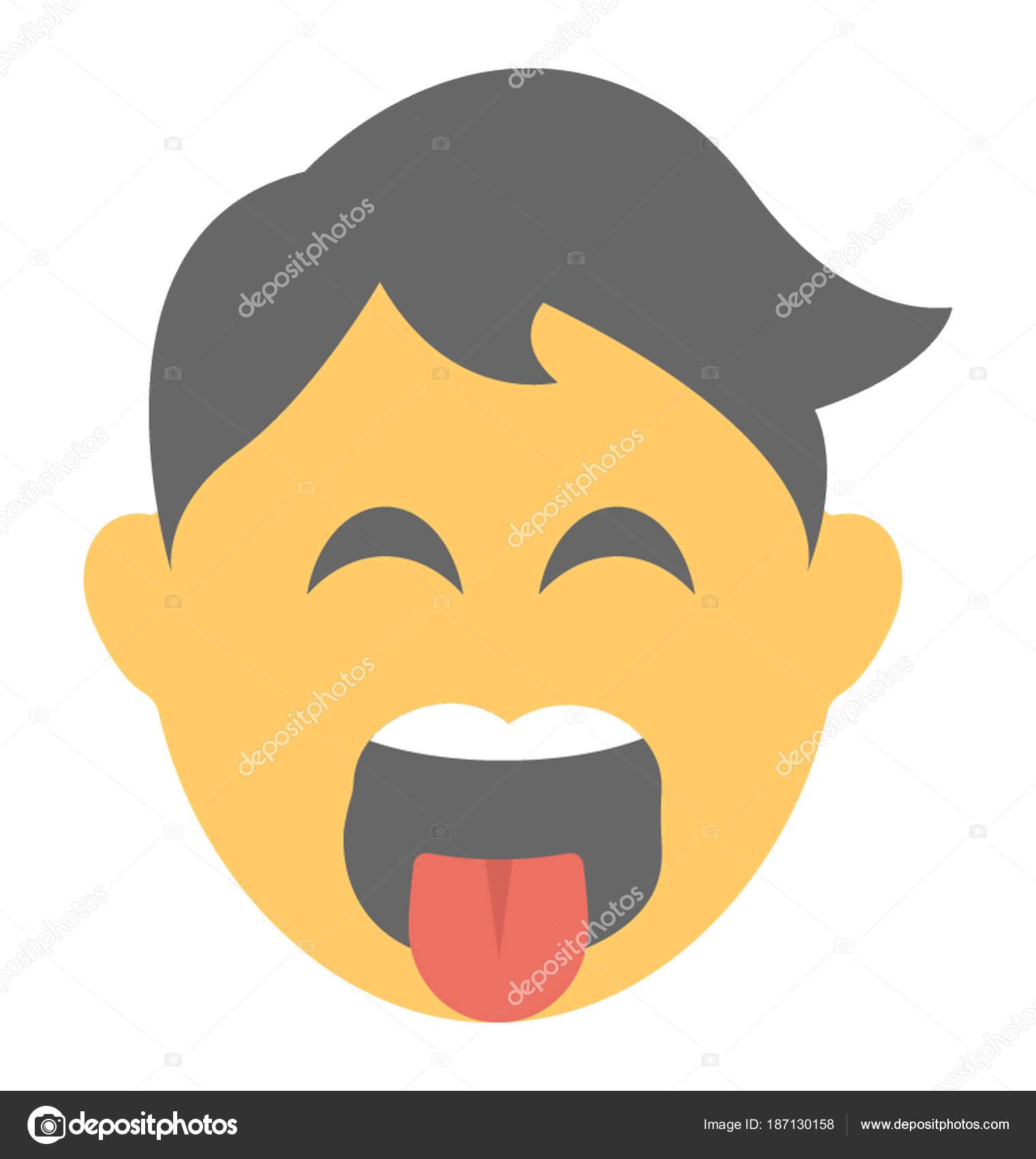 Social Communication Platforms Emoji Naughty Expression Stock