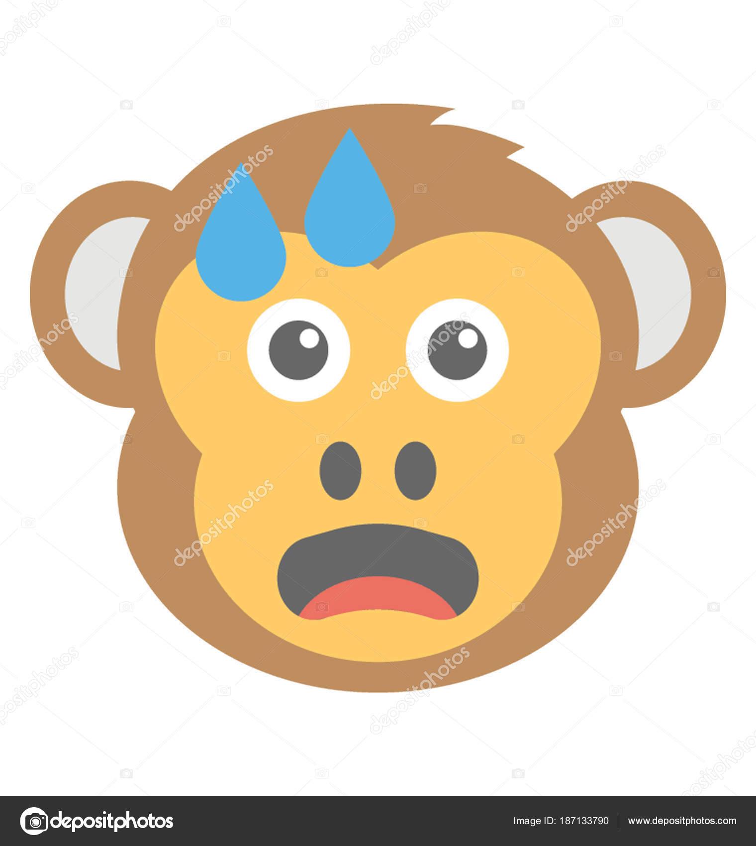 Lustige Affen Gesicht Emoji Mit Tränen Ausdrücken — Stockvektor ...