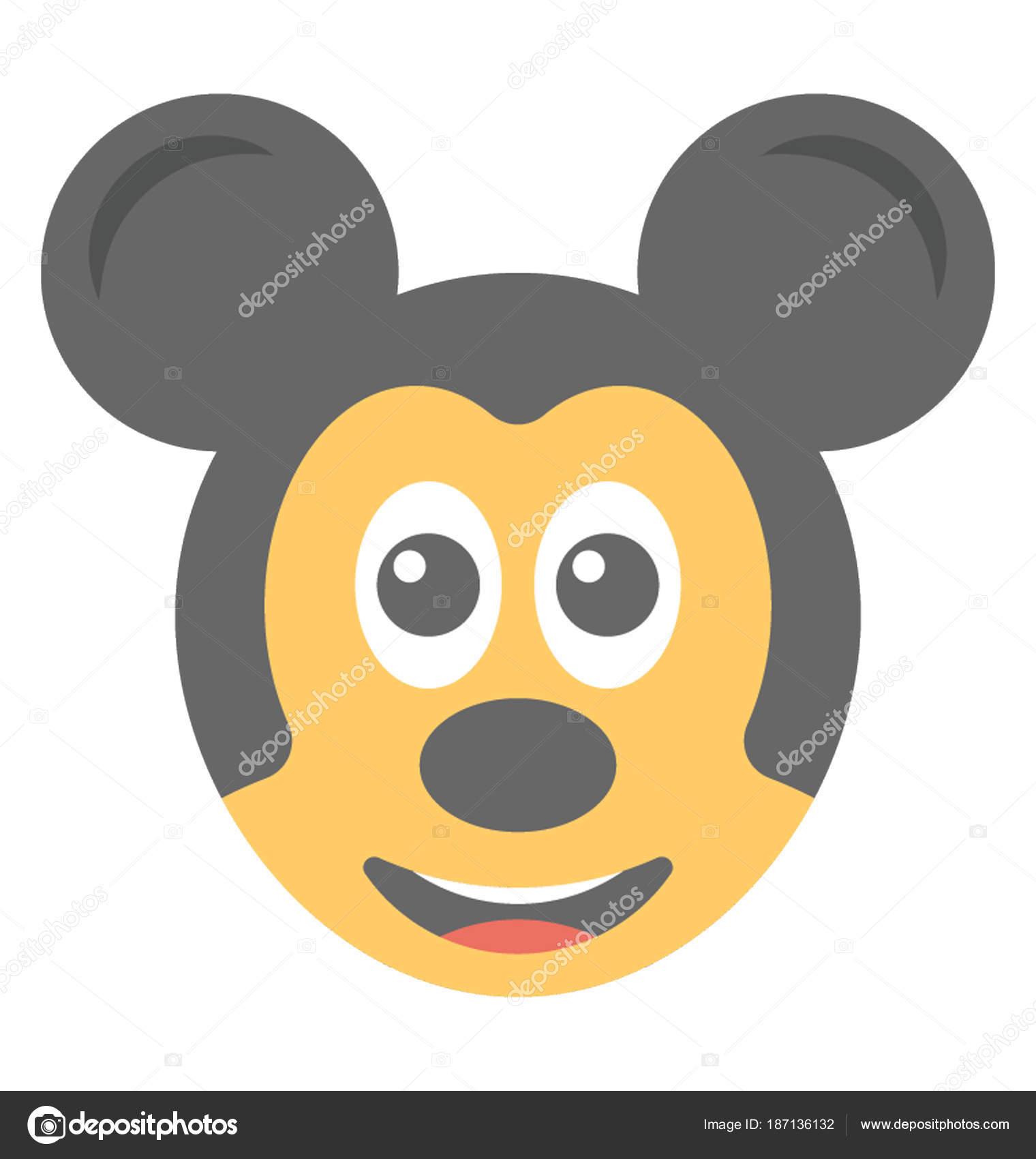 Mickey Mouse Plano Emoticonos Dibujos Animados Aspecto — Vector de ...