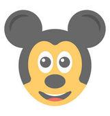 Fotografie Kreslený vzhled mickey mouse plochý emotikonu