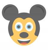 Fotografie Cartoon appearance mickey mouse flat emoticon