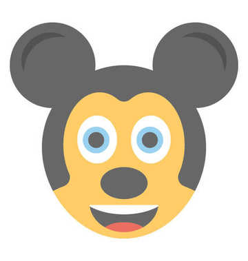Cartoon appearance mickey mouse flat emoticon