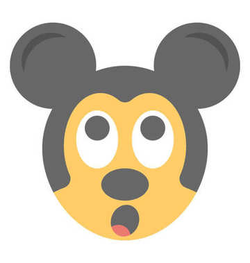 Cartoon appearance mickey mouse flat emoticon