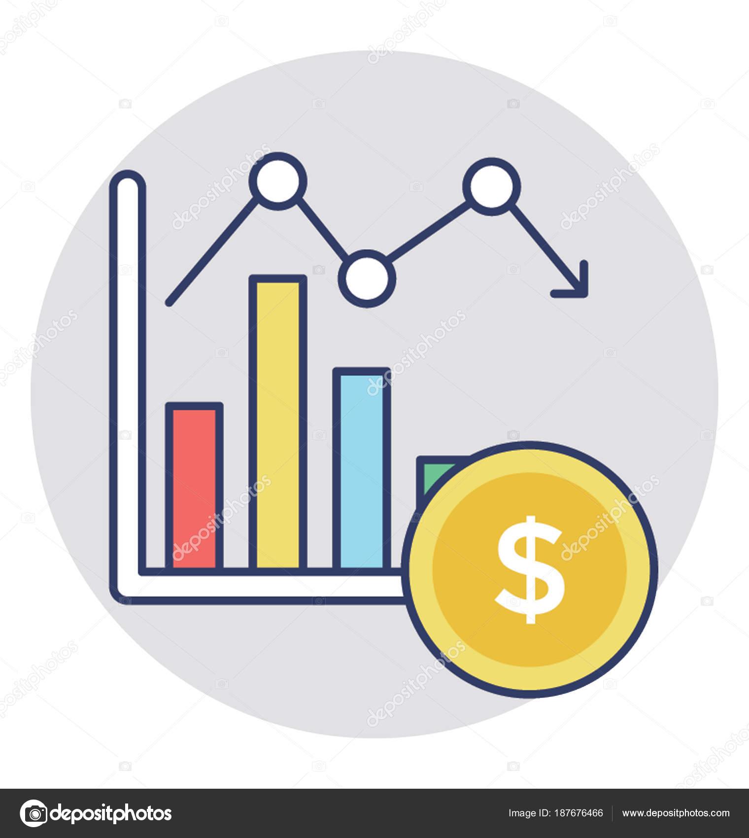 Growing Chart Concept Money Growth Stock Vector Creativestall