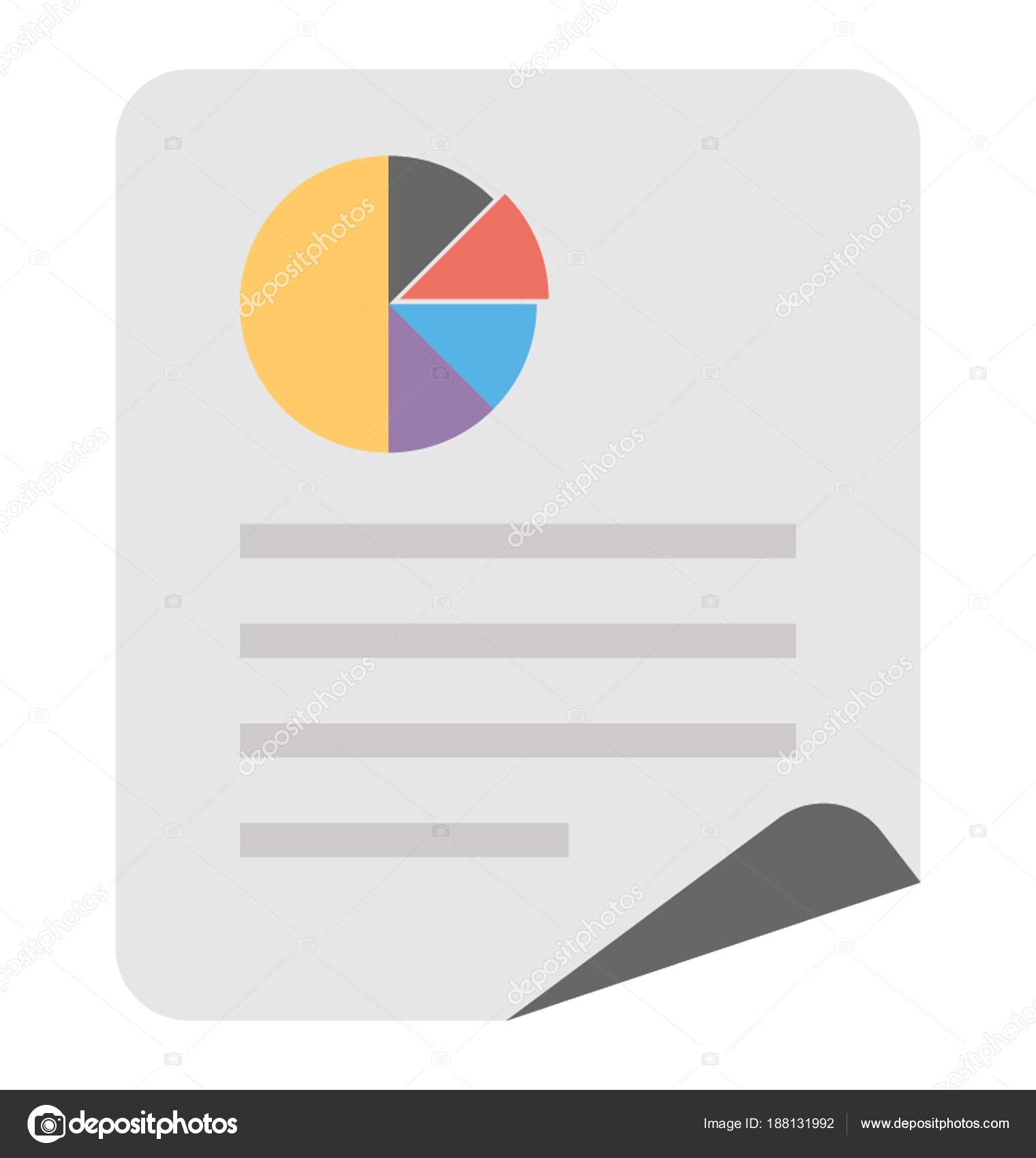 Document Pie Chart Diagram Concept Statistical Analysis Stock A With Of Vector By Creativestall