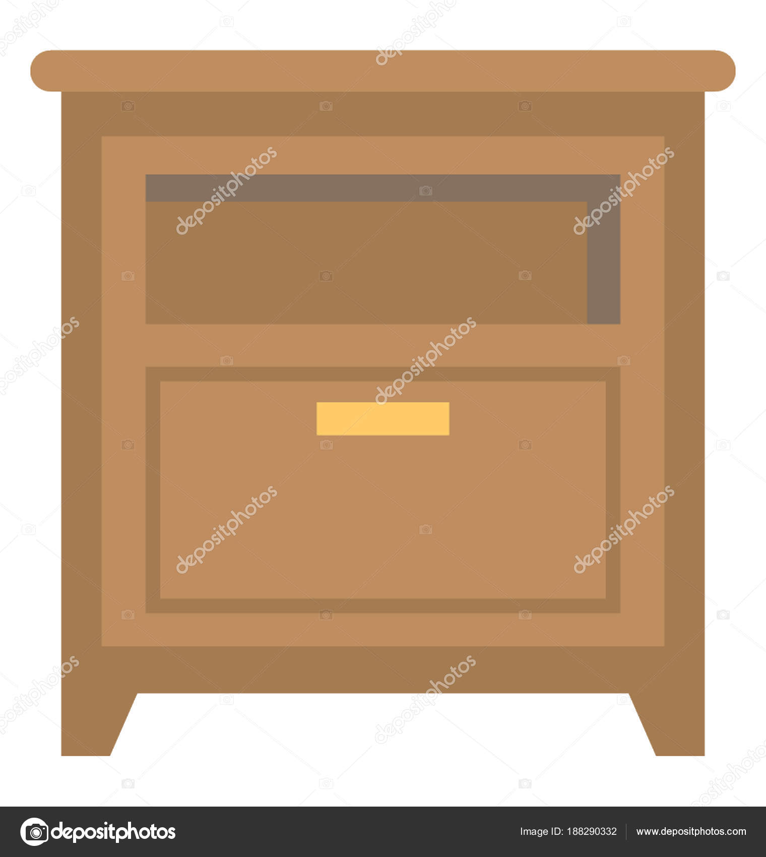 Bedside Drawer Chester Bedroom Furniture Stock Vector