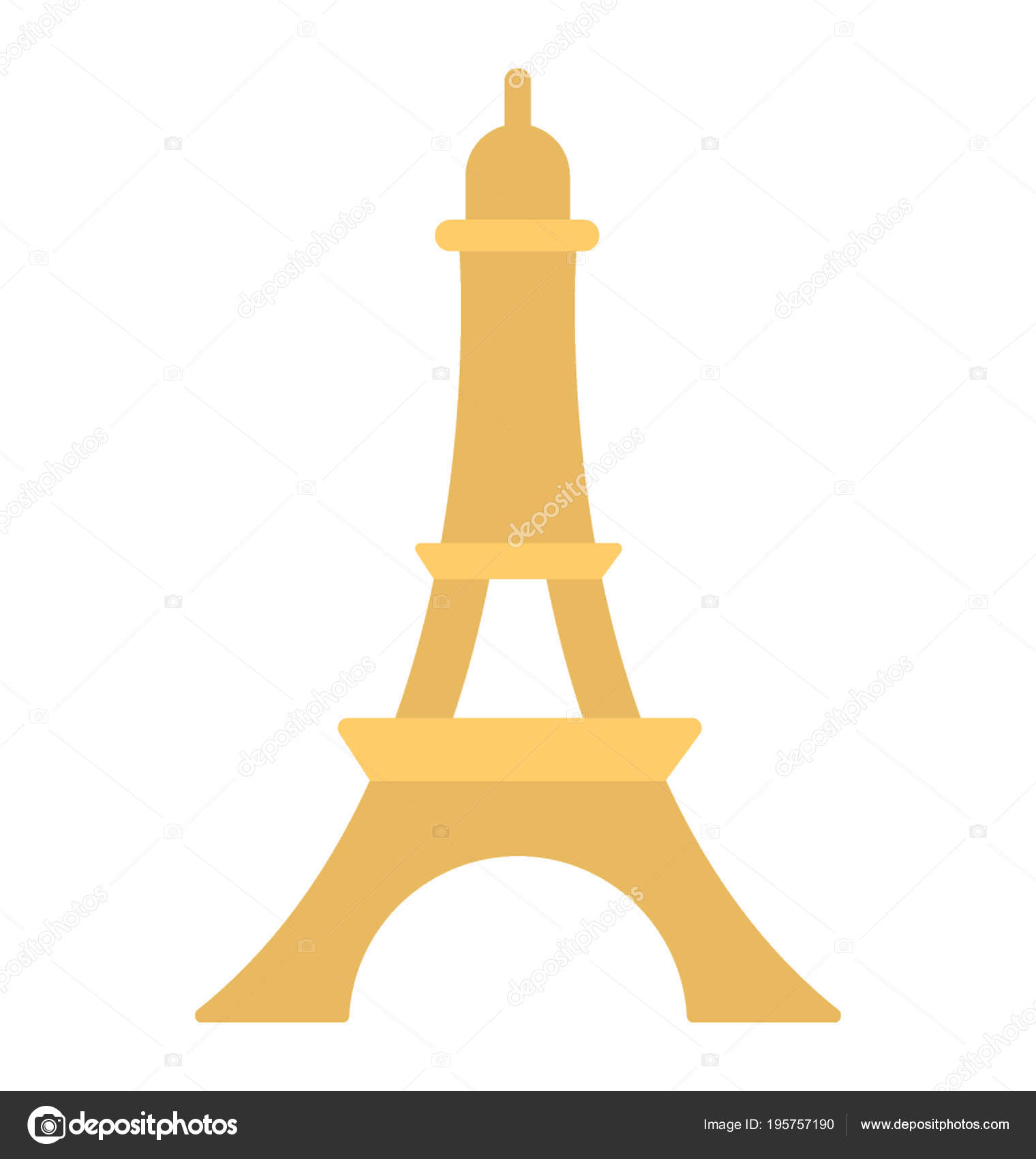 Images Cartoon Eiffel Tower Cartoon Depiction Eiffel Tower Paris France Stock Vector C Creativestall 195757190