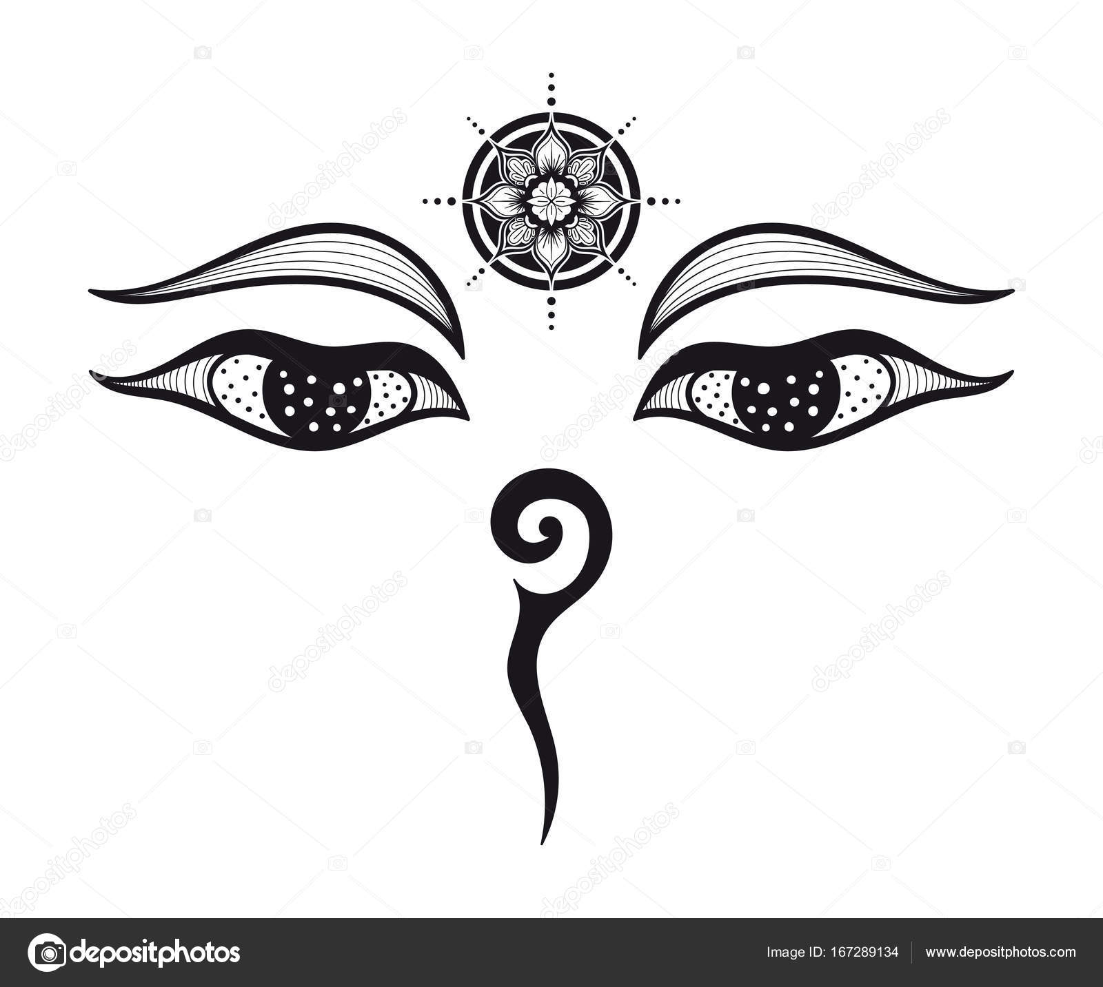 Buddha eyes design stock vector deneategmail 167289134 eyes of buddha buddhist eyes symbol wisdom and enlightenment nepal vector by deneategmail biocorpaavc Image collections