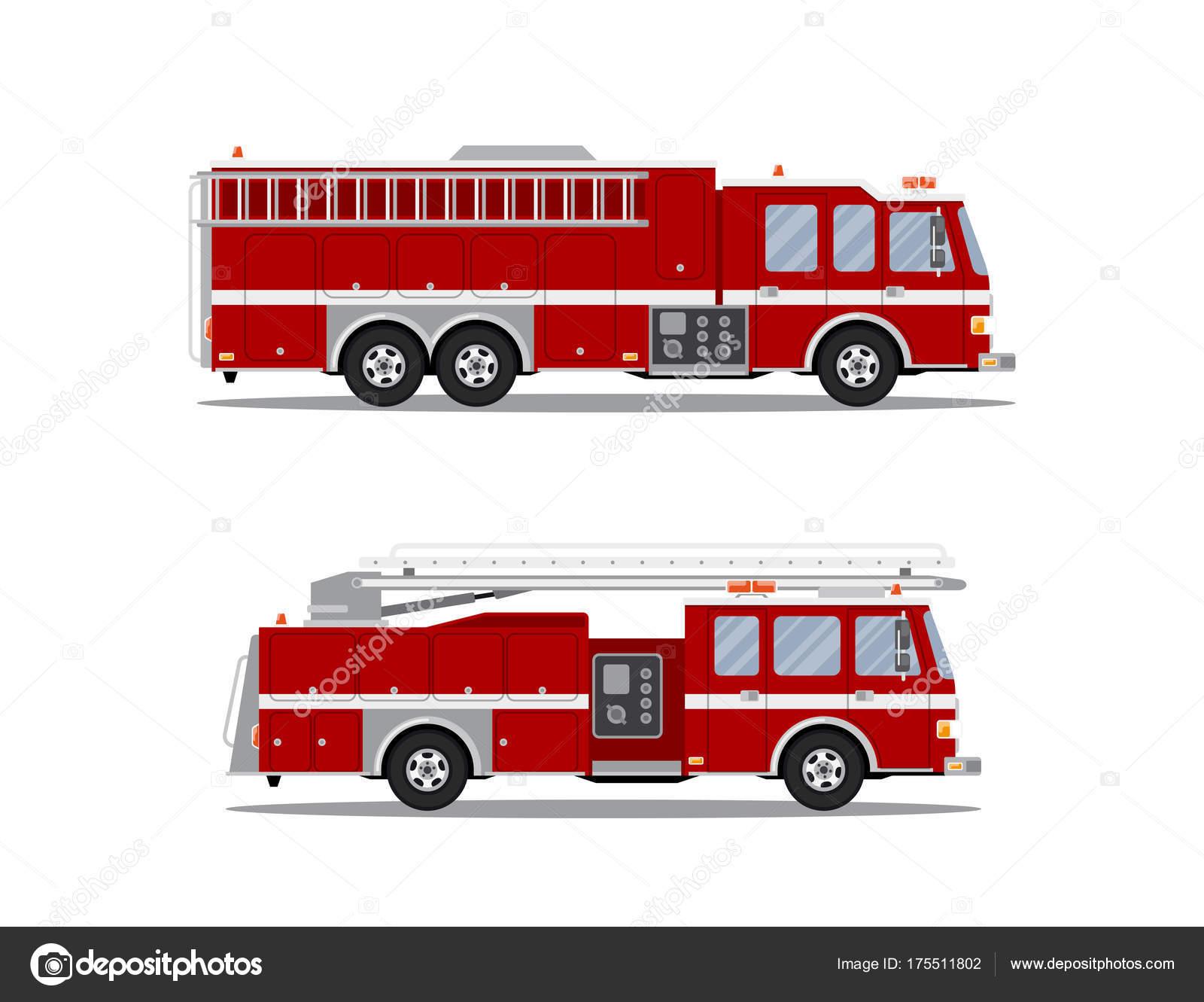 Foto de camión de bomberos — Vector de stock © Den.the.Grate@gmail ...