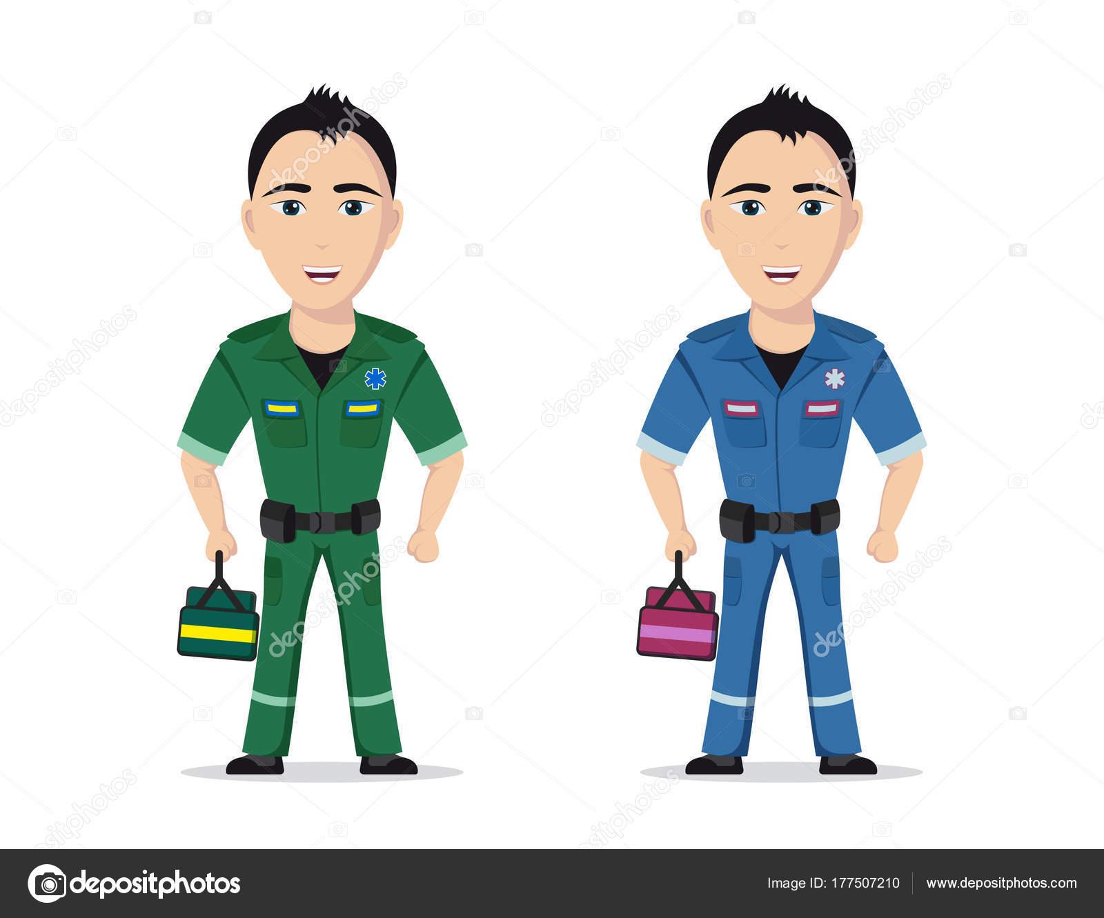 Ilustracion: paramedico   Foto de un paramédico — Vector de