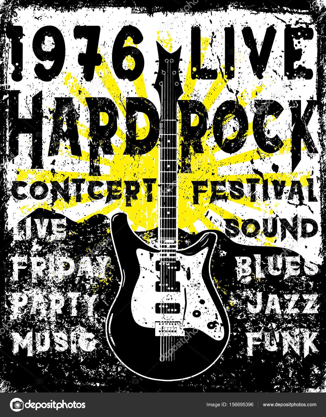 6bc352aed8e3 Etichetta vintage rock Poster hipster monocromatico  Distintivo  Flayer