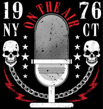 Skull Music T shirt Graphic Design