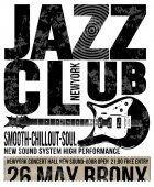 Jazz club concert music poster design tee graphic