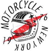 Motocyklové helmě typografie New York Sports Club
