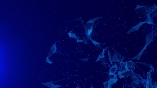 Abstract polygonal plexus background