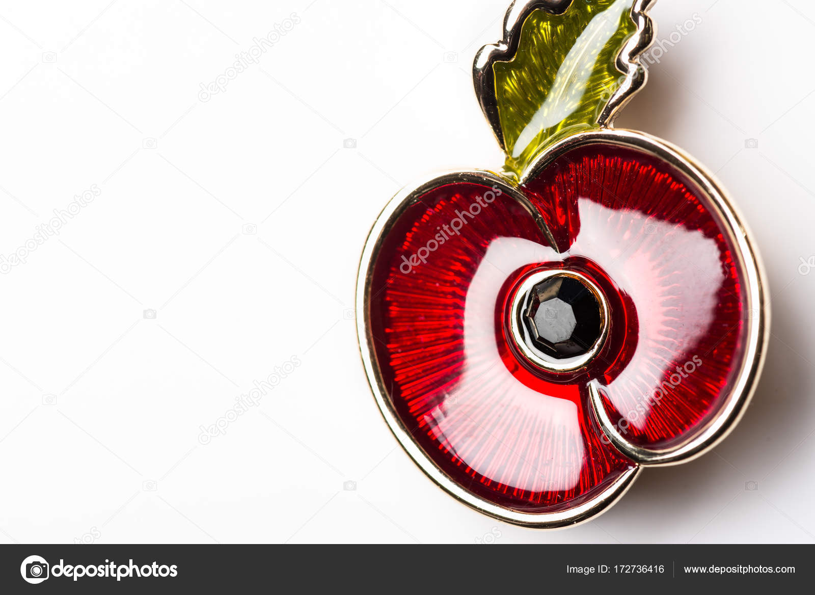 Red Poppy Pin As A Symbol Of Remembrance Day Stock Photo Manuta