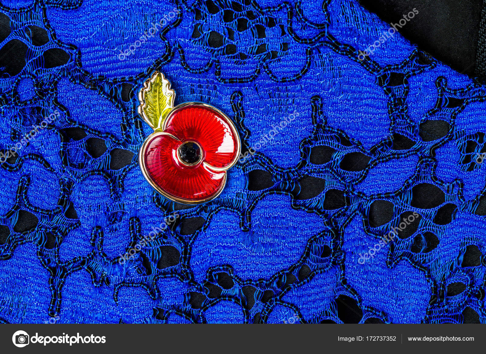 Red Poppy Pin as a Symbol of Remembrance Day — Stock Photo © MAnuta