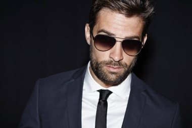 Handsome bearded man in suit