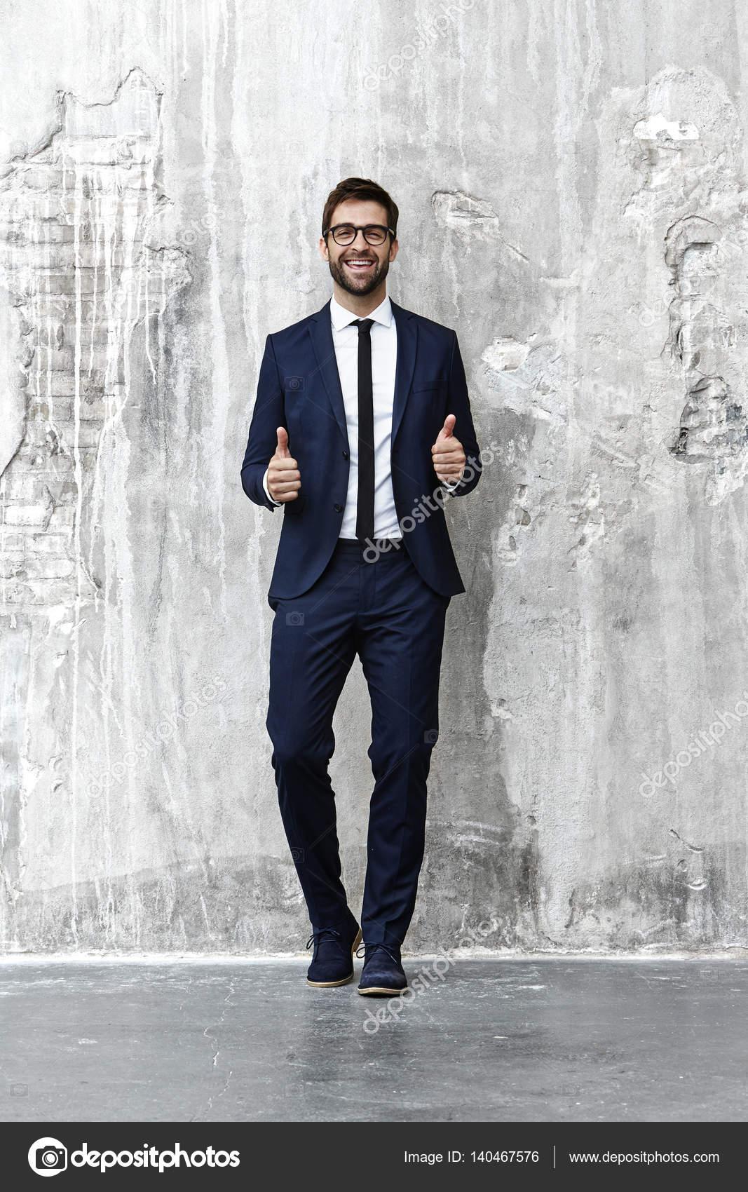 Hombre Vestido Formal Hombre Vestido Elegante Foto De