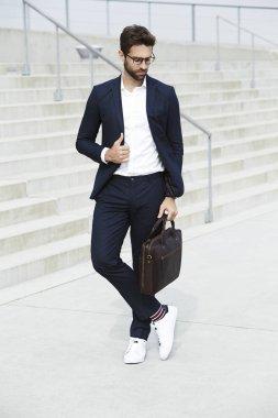 Smart casual businessman