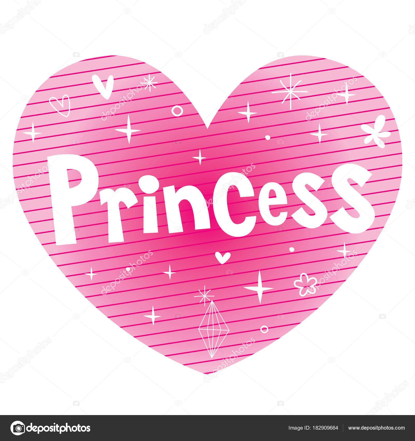 Diseño Letras Forma Corazón Color Rosa Princesa Archivo Imágenes