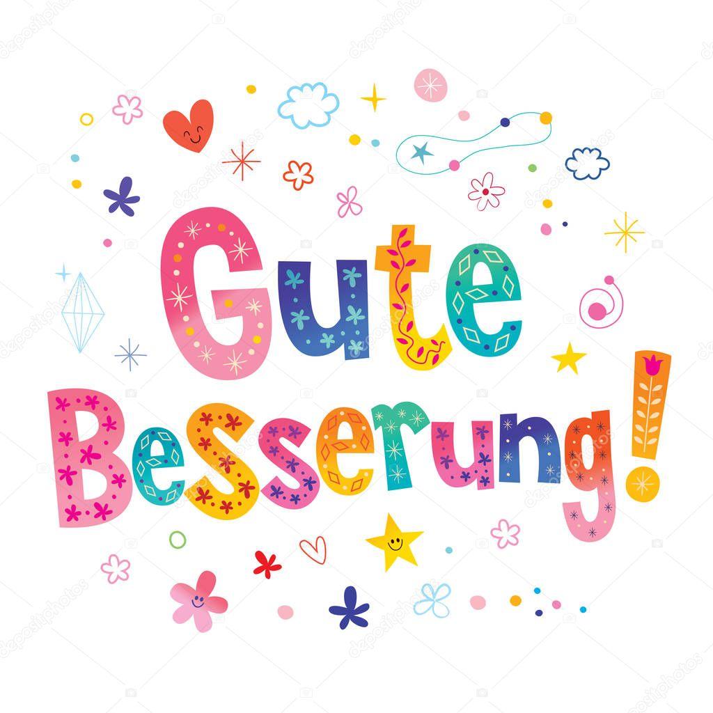 Gute Besserung Gute Besserung Deutscher Sprache Grußkarte
