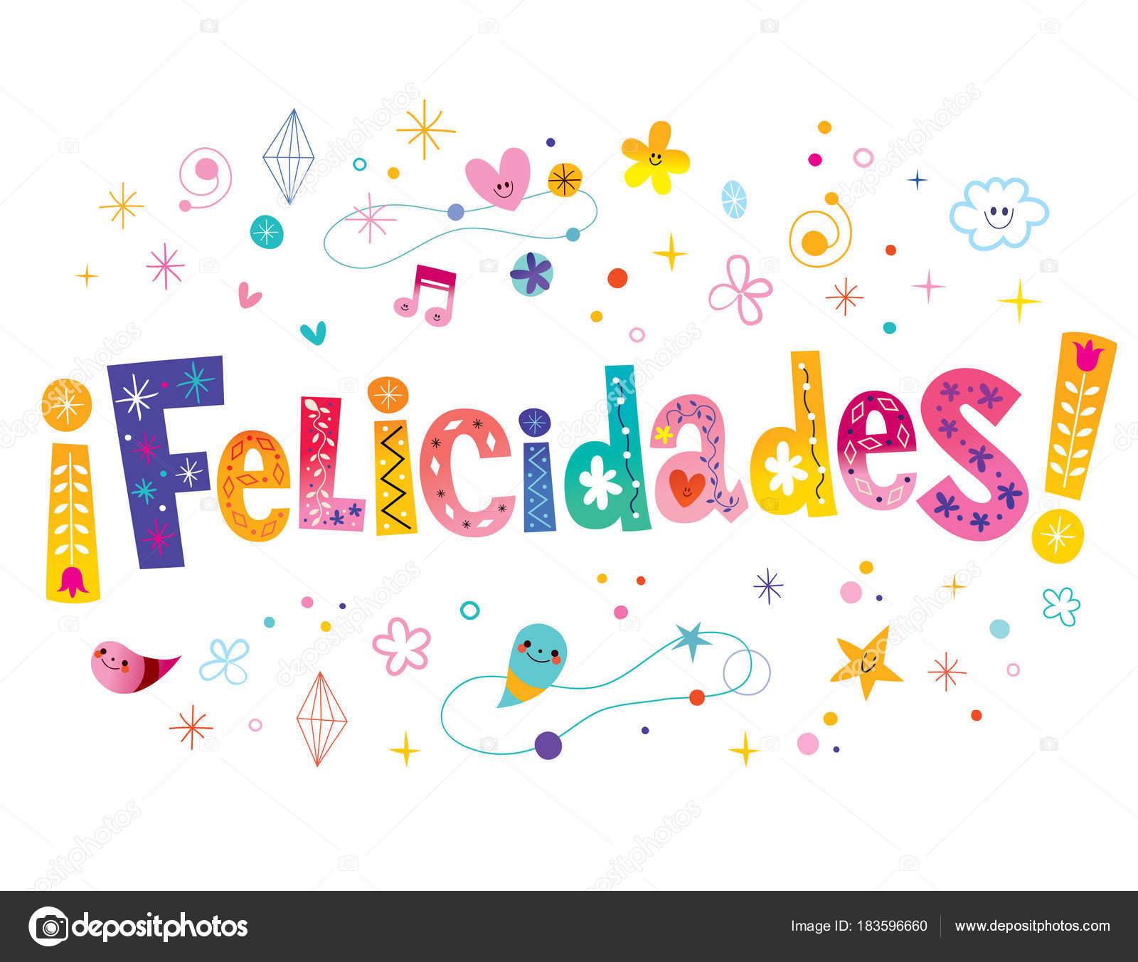 grattis spanska Felicidades Grattis Spanska — Stock Vektor © Aliasching #183596660 grattis spanska