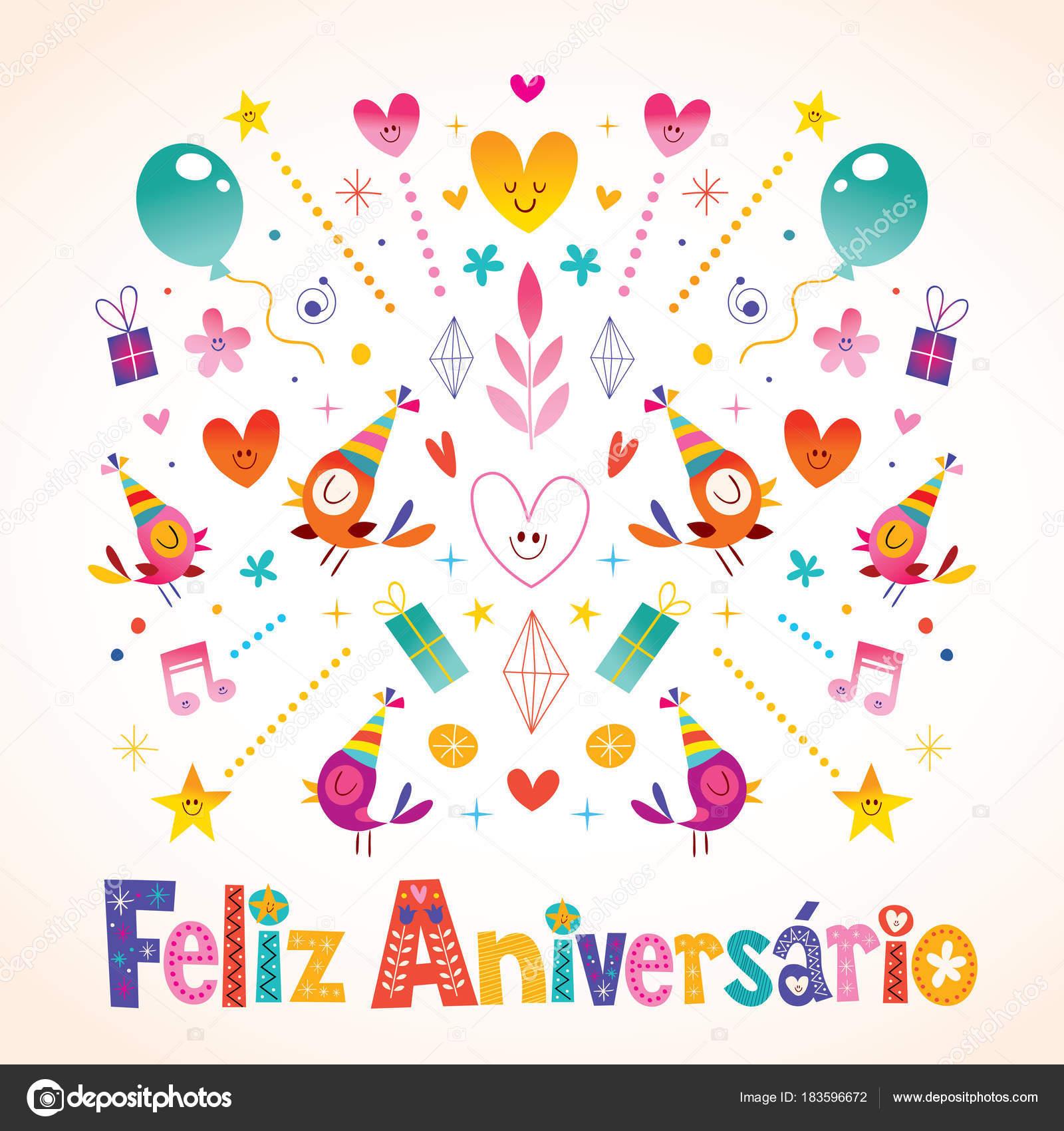 Images Happy Birthday Wishes In Brazilian Portuguese Feliz Aniversario Brazilian Portuguese Happy Birthday Card Stock Vector C Aliasching 183596672