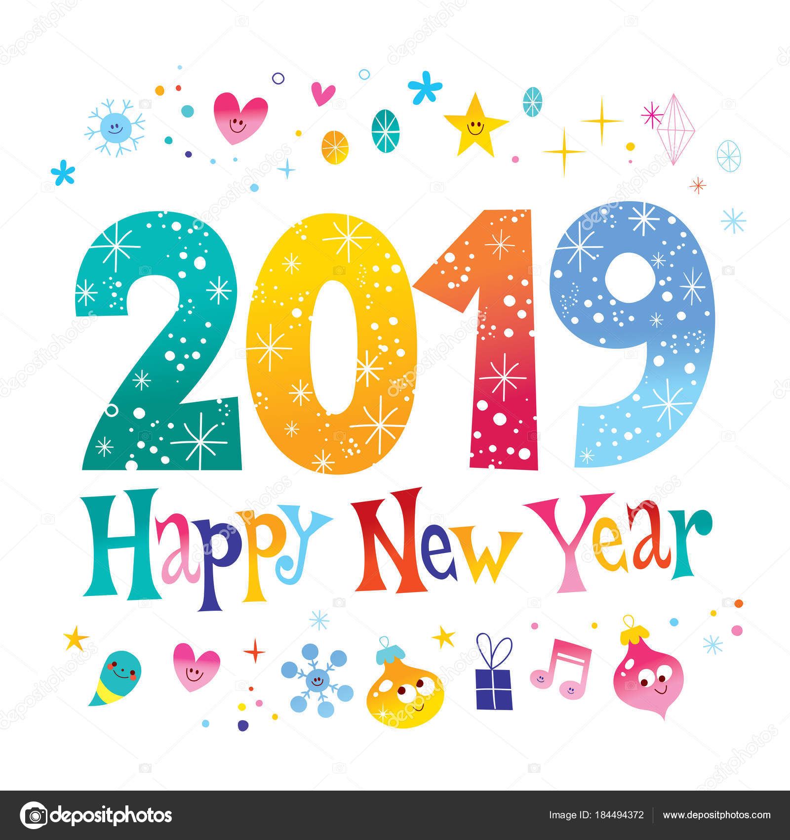 carte voeux nouvel deux mille dix neuf 2019 image clipart happy new year 2019 transparent clipart happy new year graphics 2017