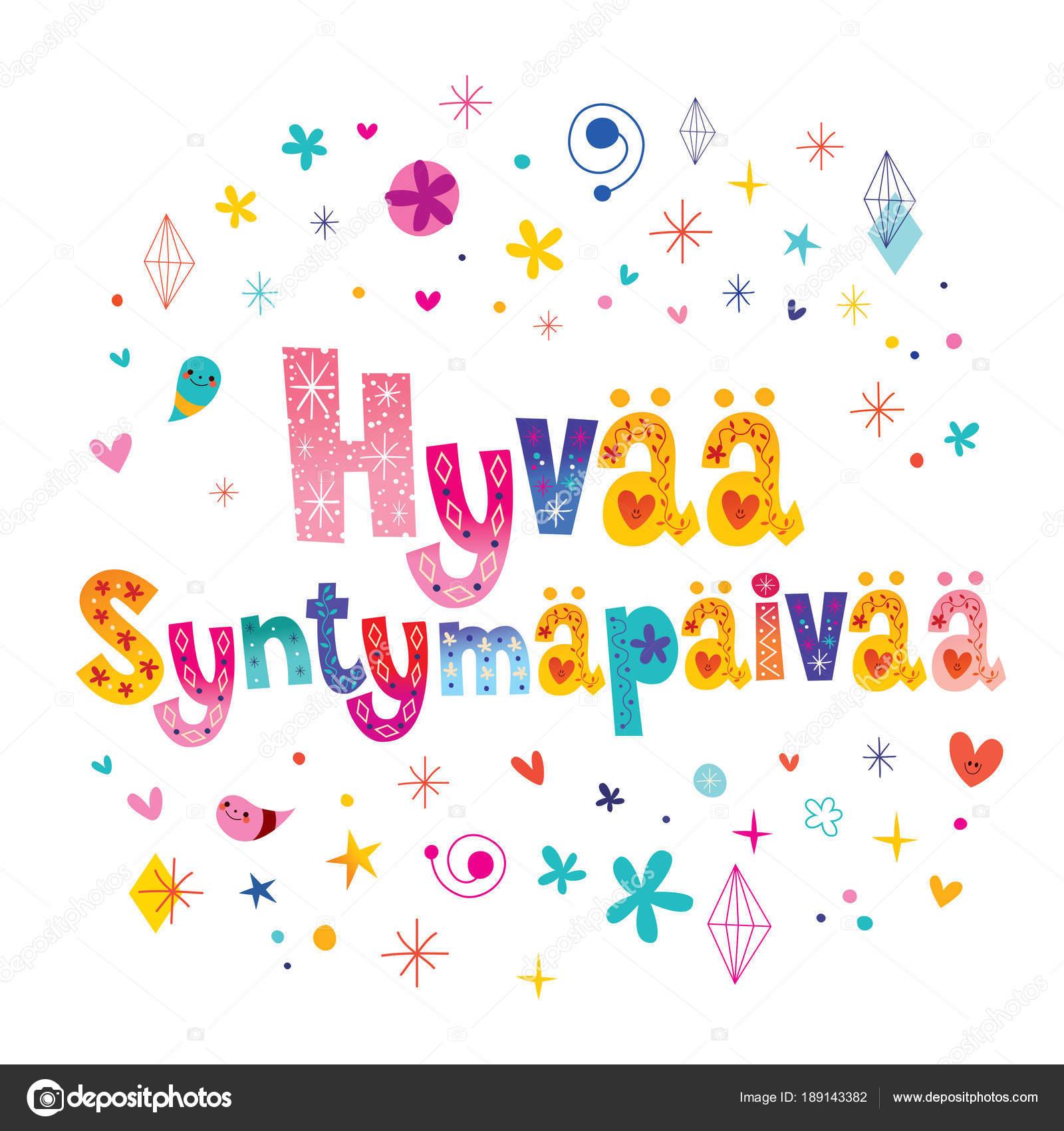 Finnisch Alles Gute Zum Geburtstag