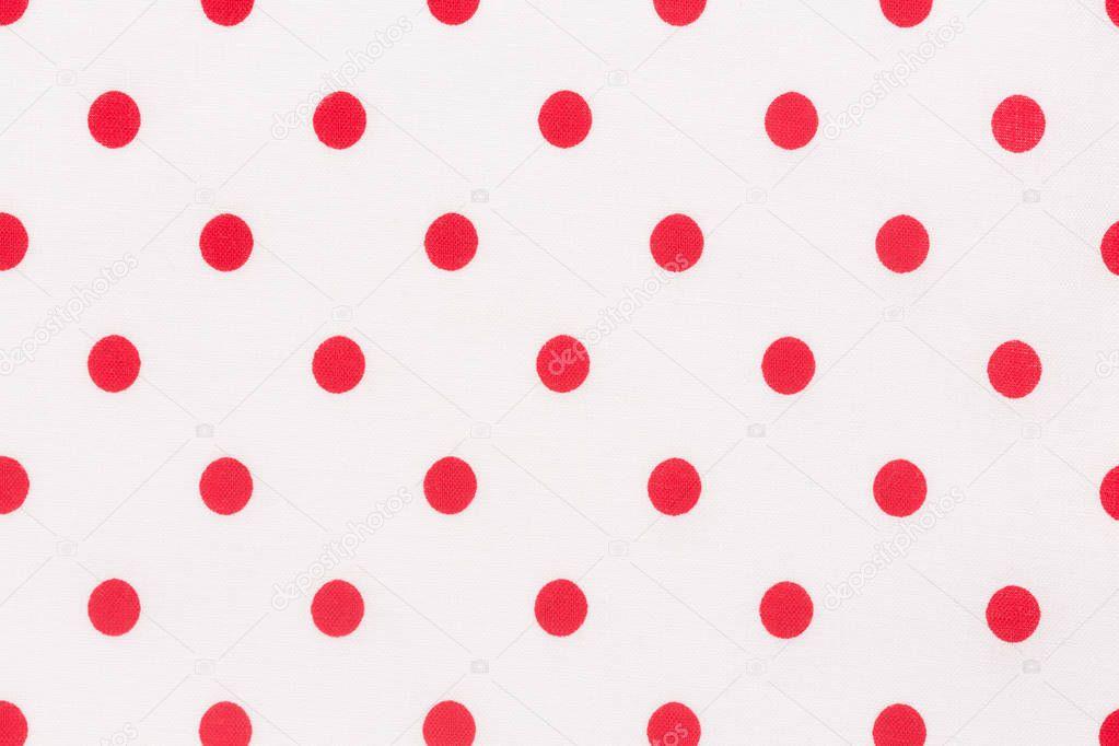 Struttura Del Tessile Tessuto Pois Sfondo Bianco E Rosso Foto