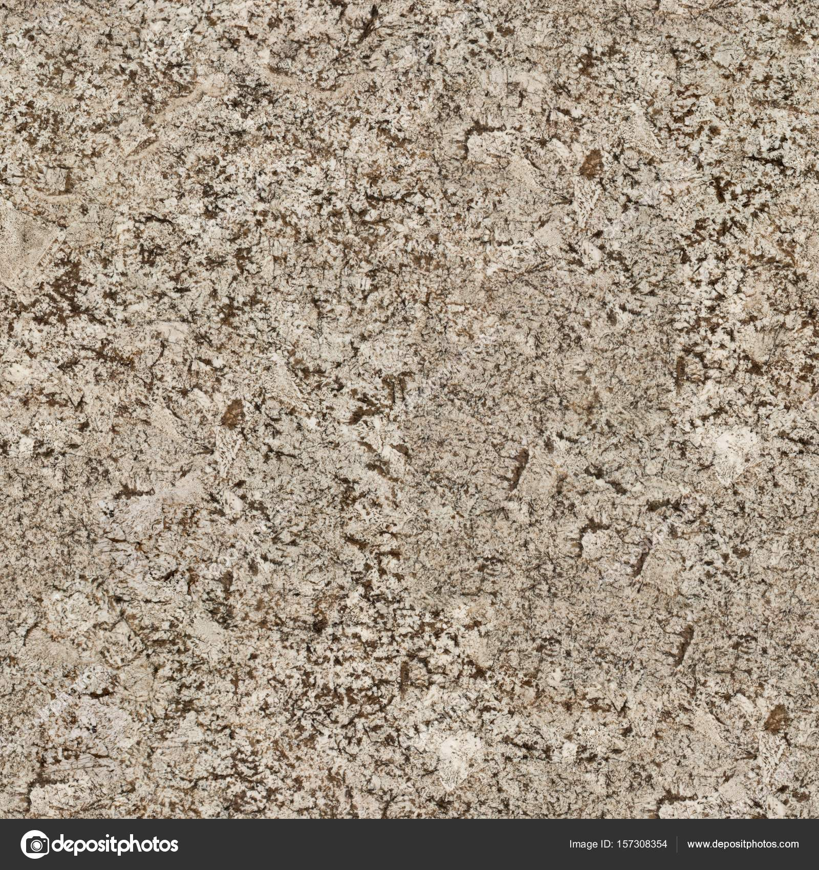 Beige And Brown Granite Surface Texture Seamless Square Backgro Stock Photo