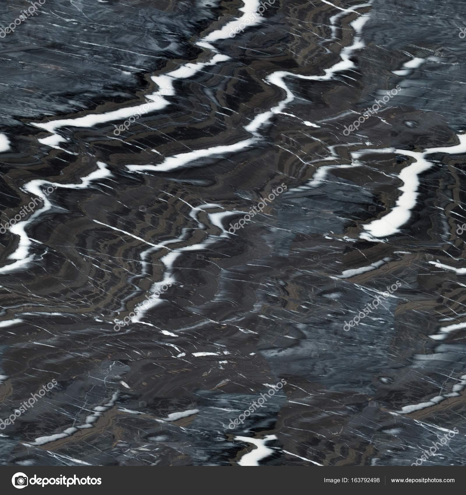 Schwarzer Marmor natürliche Muster für den Hintergrund. Nahtlose ...