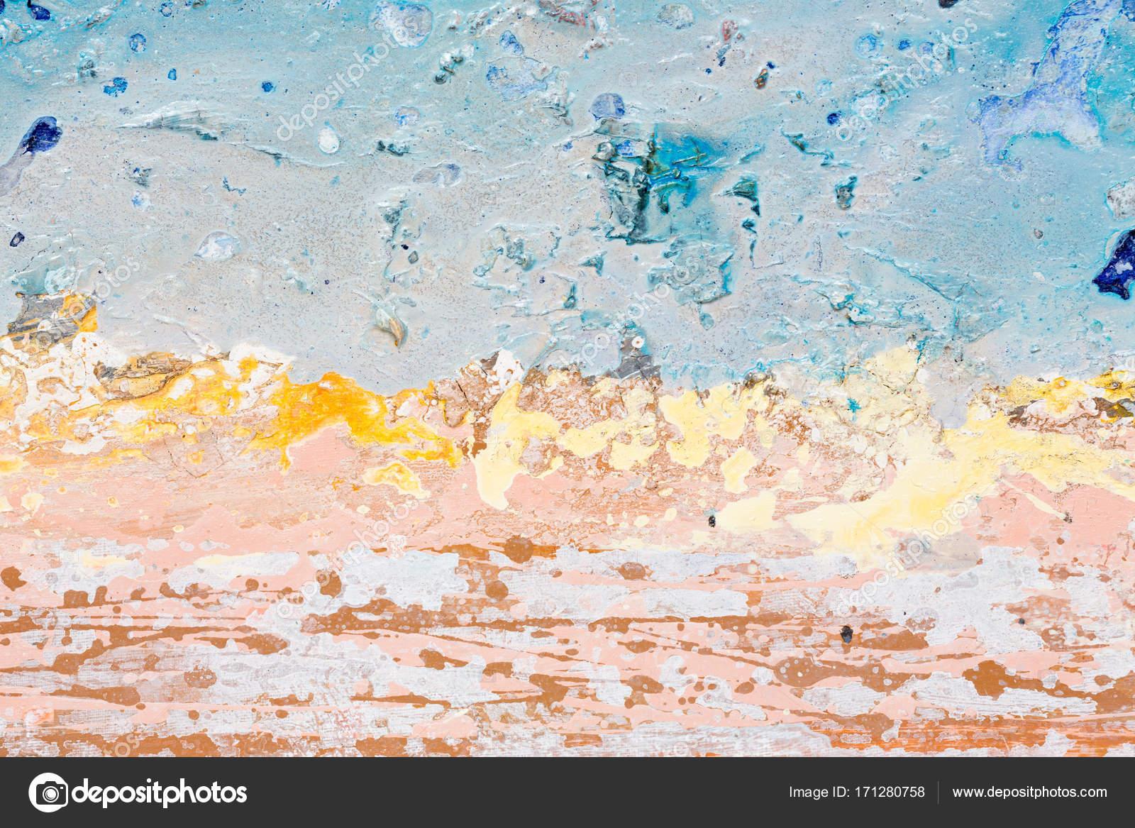 Astratto blu mare onda arte pittura primo piano u2014 foto stock