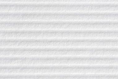 Horizontally stripped white paper background.