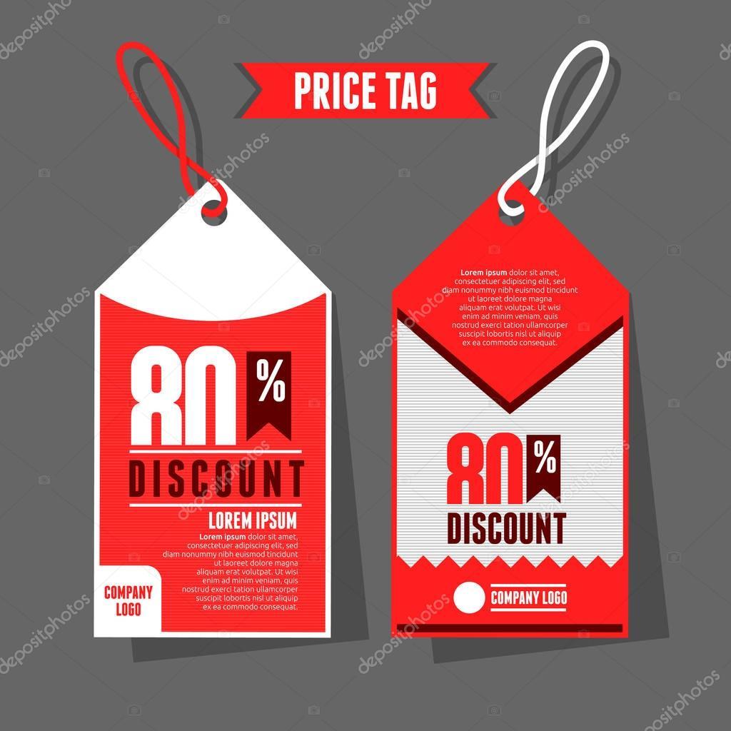 modern price tag template stock vector yugra 130473912