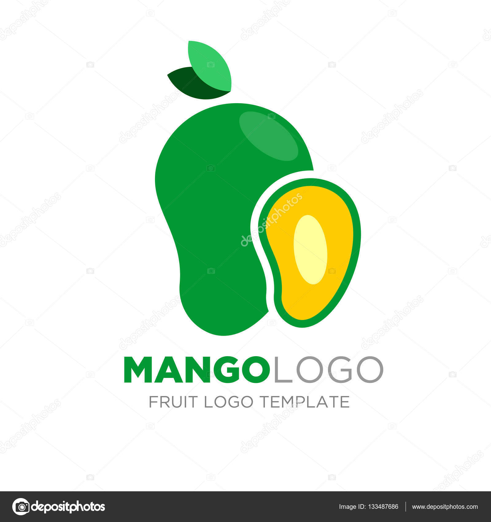 mango logo design � stock vector 169 yugra 133487686