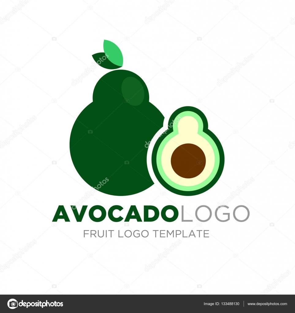 Avocado Logo Design Stock Vector Yugra 133488130