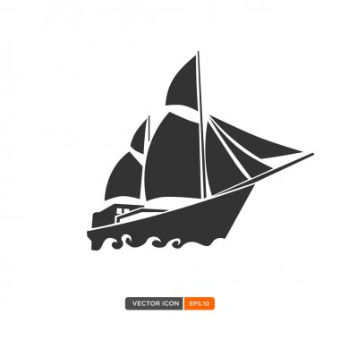 Sailboat or phinisi icon